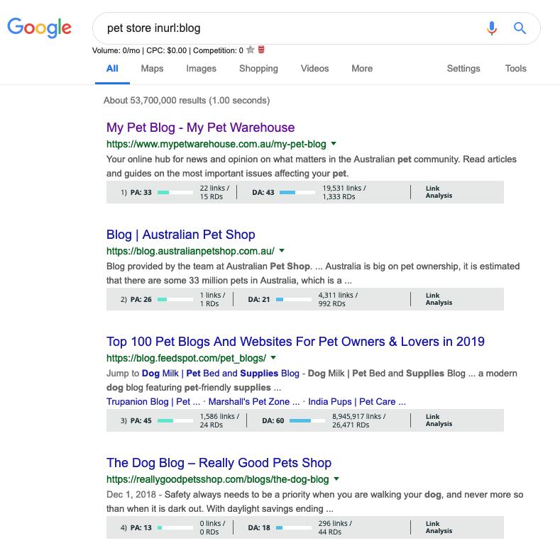 google search operator inurl