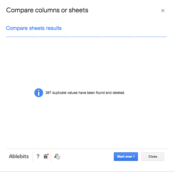 Compare Columns or Sheets - Deleted