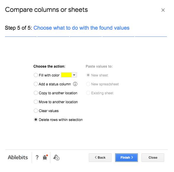 Compare columns - Step 5