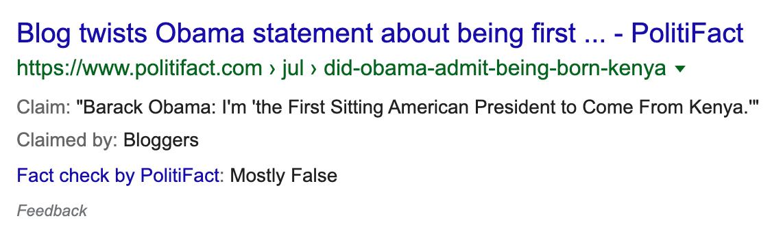 Fact Check Schema