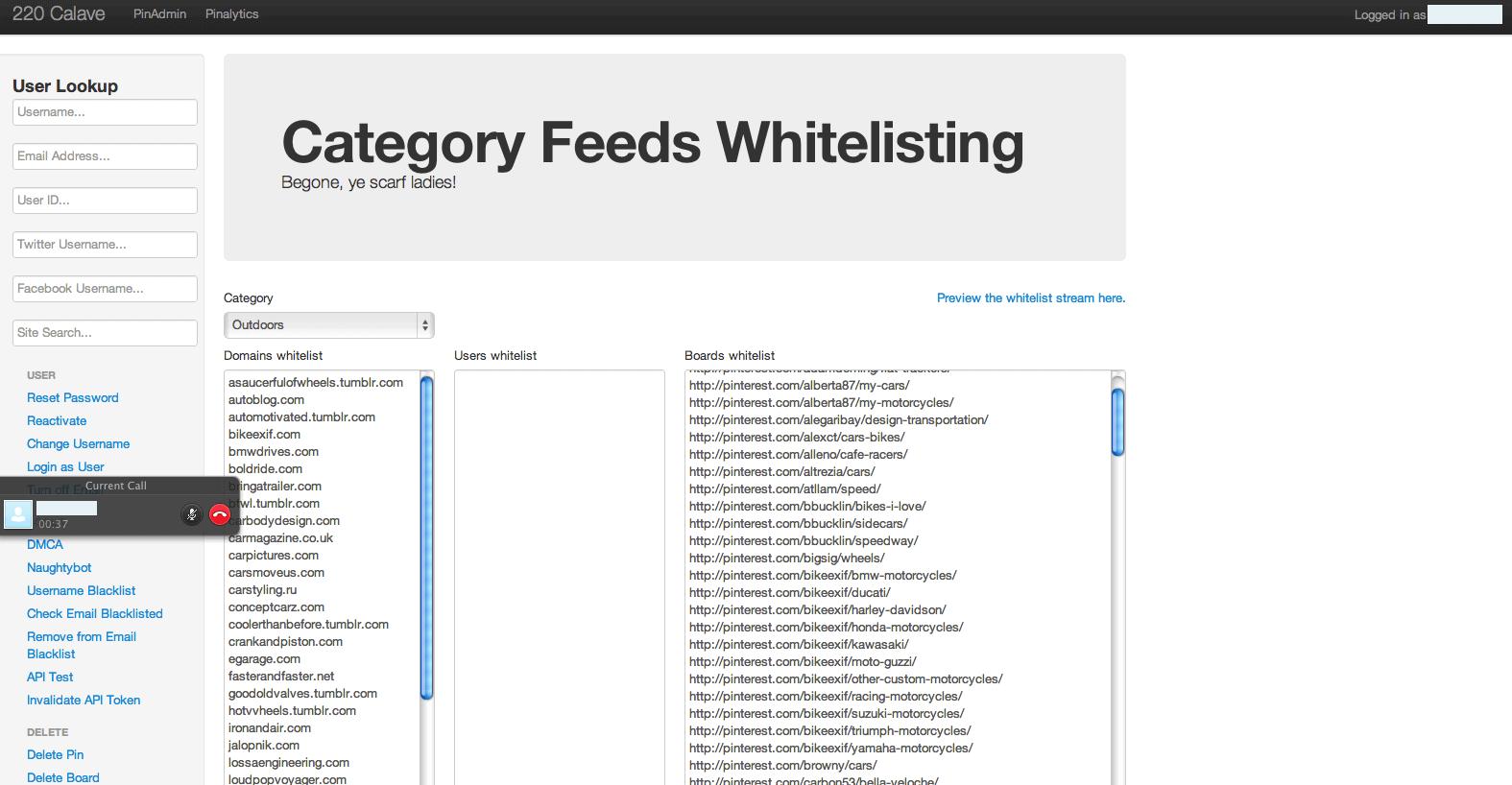 Outdoors Category Whitelisting Pinterest